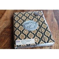 Diary fabric Thailand with elephant 19x14 cm - unlined - THAI023