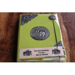 Diary fabric Thailand with elephant 19x14 cm - unlined - THAI024