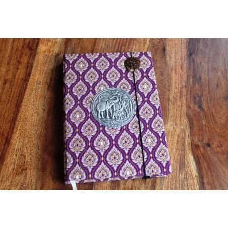 Tagebuch Stoff Thailand mit Elefant 19x14 cm - unliniert - THAI025
