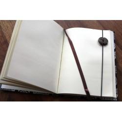 Tagebuch Stoff Thailand mit Elefant 19x14 cm - unliniert - THAI019