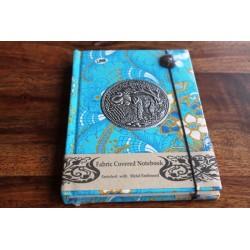 Diary cloth Thailand with elephant 15x11 cm - lined - THAI030