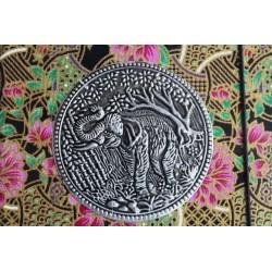 Diary cloth Thailand with elephant 15x11 cm - lined - THAI031