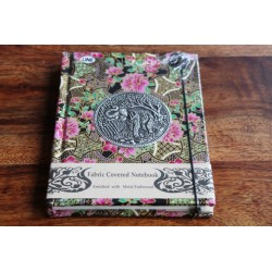 Diary cloth Thailand with elephant 15x11 cm - lined - THAI031