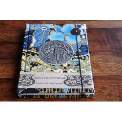 Diary cloth Thailand with elephant 15x11 cm - lined - THAI032