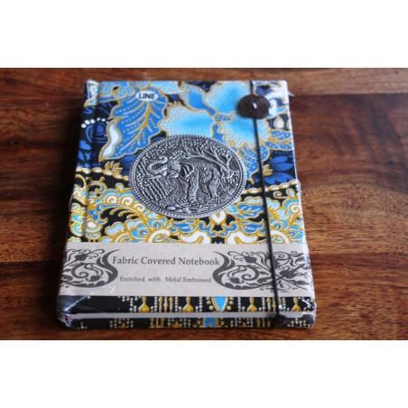 Tagebuch Stoff Thailand mit Elefant 15x11 cm - liniert - THAI032