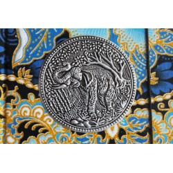 Diary cloth Thailand with elephant 15x11 cm - lined - THAI032