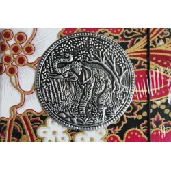 Diary cloth Thailand with elephant 15x11 cm - lined - THAI033