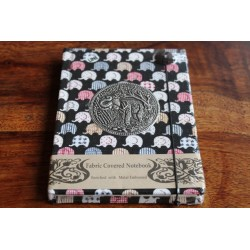 Diary cloth Thailand with elephant 15x11 cm - lined - THAI034
