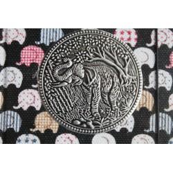 Diary cloth Thailand with elephant 15x11 cm - lined - THAI034