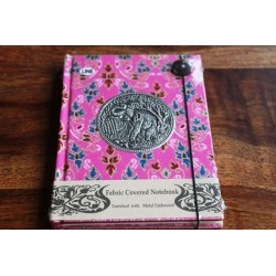 Diary cloth Thailand with elephant 15x11 cm - lined - THAI035