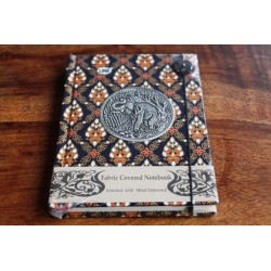 Diary cloth Thailand with elephant 15x11 cm - lined - THAI036