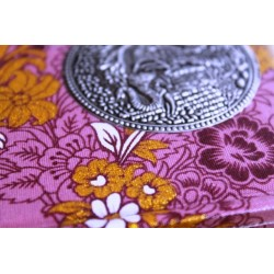 Diary cloth Thailand with elephant 15x11 cm - lined - THAI037