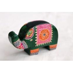 Kleine Geldbörse Elefant in Grün