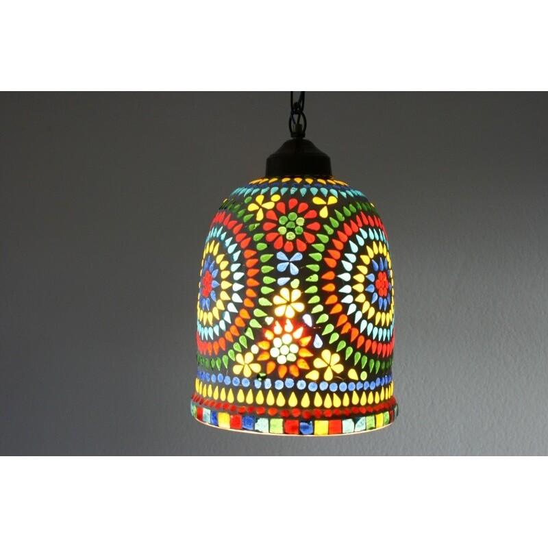 Mosaiklampenschirm in indischem Design