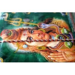 Typisches indisches Notizbuch mit Gottheit Shiva (mittel) - NOTIZ-OM057