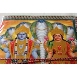 B-Ware: Typisches indisches Notizbuch mit Gottheit (mittel) - NOTIZ-OM060