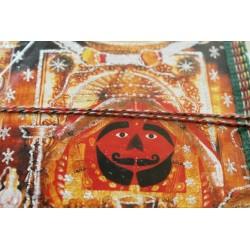 Typisches indisches Notizbuch mit Gottheit (mittel) - NOTIZ-OM076