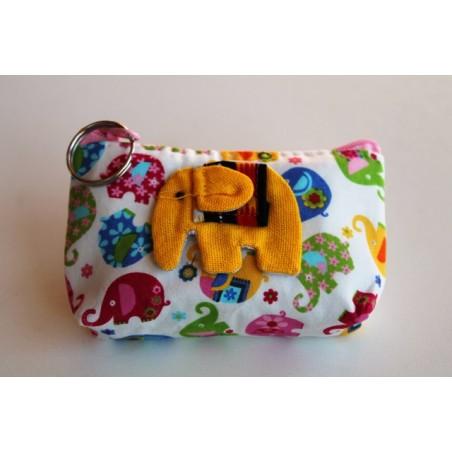 Kleiner Geldbeutel / Stofftäschchen Elefant