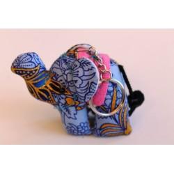 Schlüsselanhänger / Anhänger Stoffelefant Flieder