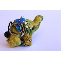 Schlüsselanhänger / Anhänger Stoffelefant Hellgrün