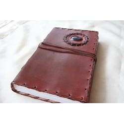 2. Wahl: Notizbuch / Tagebuch mit Echtledereinband un