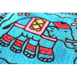 Kleiner Brustbeutel Stoff Elefant
