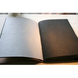 2. Wahl: Fotoalbum Leder mit einem Stein 34x27 cm - LEDER-ST31