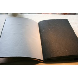 2. Wahl: Fotoalbum Leder mit einem Stein 34x27 cm - LEDER-ST33