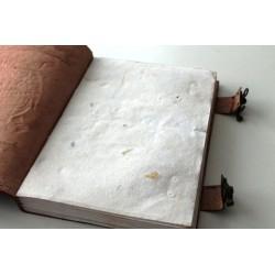 2. Wahl: Leder Tagebuch / Notizbuch mit Elefanten Motiv 25x18 c