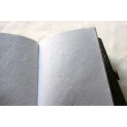 2. Wahl: Notizbuch mit Blumenmuster 15x11 cm - LEDER-N004B