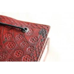 2. Wahl: Notizbuch mit Blumenmuster 15x11 cm - LEDER-N004C