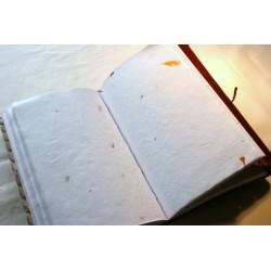 2. Wahl: Notizbuch mit Echtledereinband und Stein 23x13 cm - LEDER-N015-H
