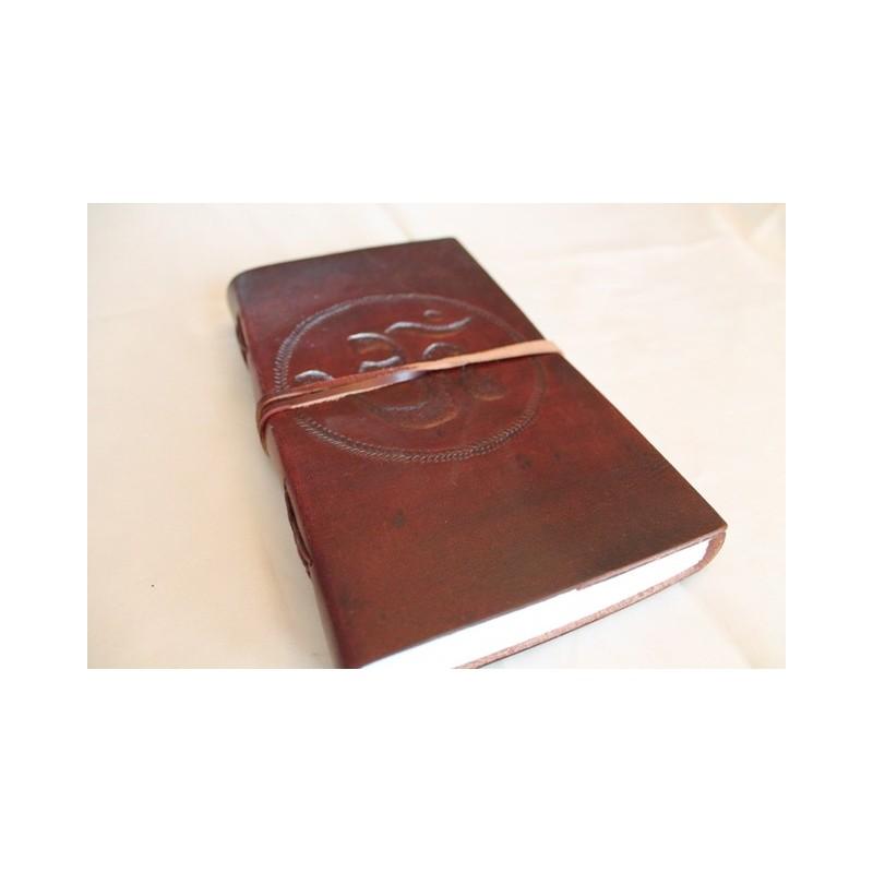2. Wahl: Notizbuch mit OM Symbol 23x13 cm - LEDER-N011J