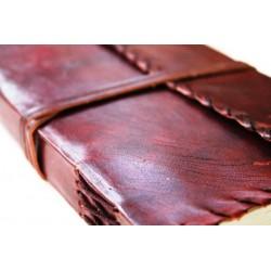 2. Wahl: Notizbuch mit Echtledereinband Randverzierung 23x14 cm