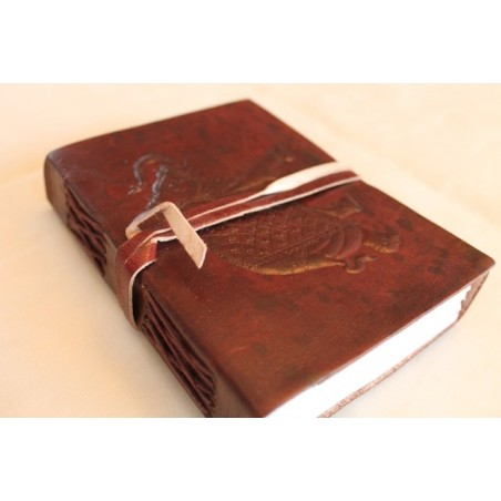 2. Wahl: Notizbuch mit Elefantenmotiv 15x11 cm - LEDER-N010AA