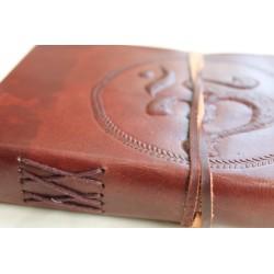 2. Wahl: Notizbuch mit OM Symbol 23x13 cm - LEDER-N011K