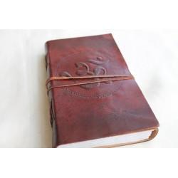 2. Wahl: Notizbuch mit OM Symbol 23x13 cm - LEDER-N011C