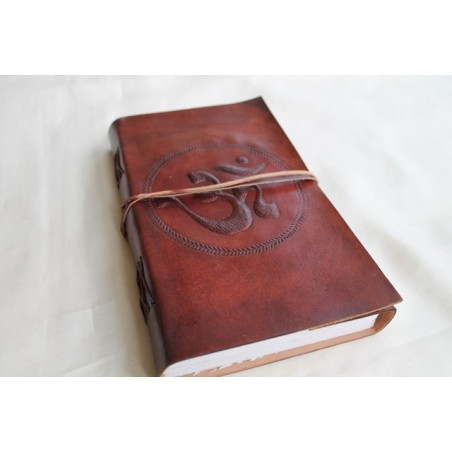2. Wahl: Notizbuch mit OM Symbol 23x13 cm - LEDER-N011D