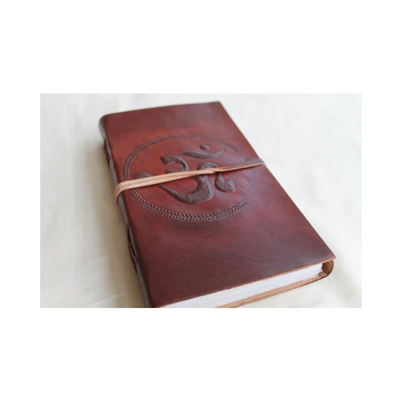 2. Wahl: Notizbuch mit OM Symbol 23x13 cm - LEDER-N011H
