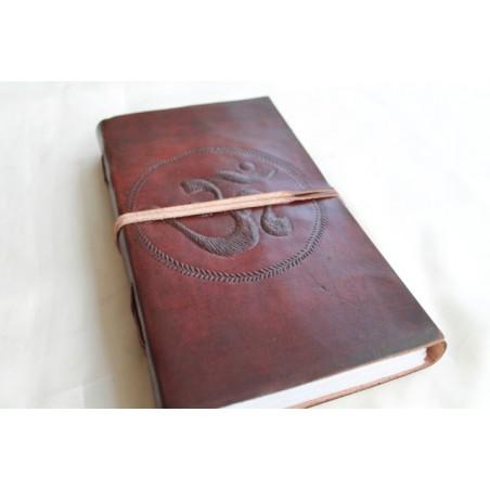 2. Wahl: Notizbuch mit OM Symbol 23x13 cm - LEDER-N011N