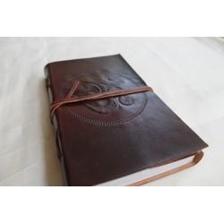 2. Wahl: Notizbuch mit OM Symbol 23x13 cm - LEDER-N011Q