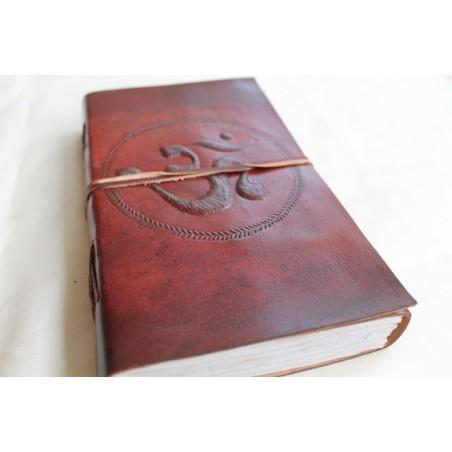2. Wahl: Notizbuch mit OM Symbol 23x13 cm - LEDER-N011R