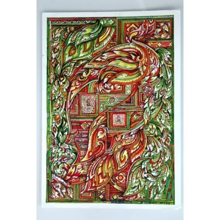 Zeichnung Ornamente Thailand - BILD120