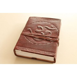 2. Wahl: Notizbuch OM Symbol 15x11 cm - LEDER-N002AA