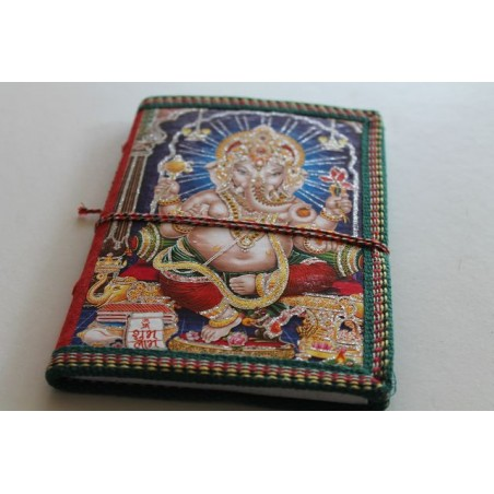 Typisches indisches Notizbuch mit Gottheit (mittel)