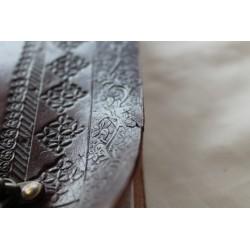 2. Wahl: Leder Tagebuch mit Elefanten Motiv 25x18 cm - LEDER-N110AA