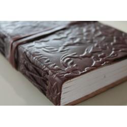 copy of Notizbuch / Tagebuch mit verziertem Echtledereinband 23x13 cm