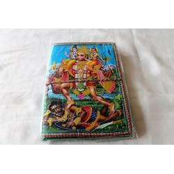 2. Wahl: Typisches indisches Notizbuch mit Gottheit Hanuman (mittel) - NOTIZ-OM050