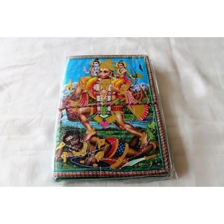Typisches indisches Notizbuch mit Gottheit (mittel) - NOTIZ-OM050