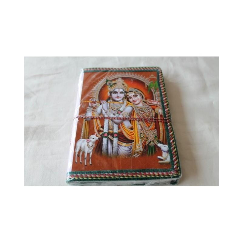 Typisches indisches Notizbuch mit Gottheit (mittel) - NOTIZ-OM051